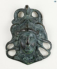 Ancient 2nd-3rd Cent. Roman Bronze �Mercury� Ornament w/Patina