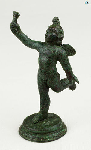 Ancient 2nd-3rd Century Roman Bronze Statuette of Cupid