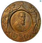 Antique French Renaissance Bronze Wall Plaque of Michelangelo