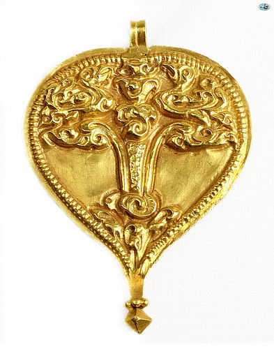 Lovely Ancient 12th Century Byzantine 22 Karat Yellow Gold Pendant