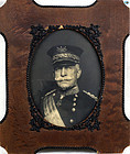 Antique Framed Photograph of General Nelson Miles American Civil War