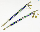 19th Cent. Silver & Enamel Torah Pointers (Yad), Eastern Europe