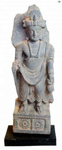 Spectacular Ancient Tall Gandharan Kushan Period Statue 2nd-3rd AD