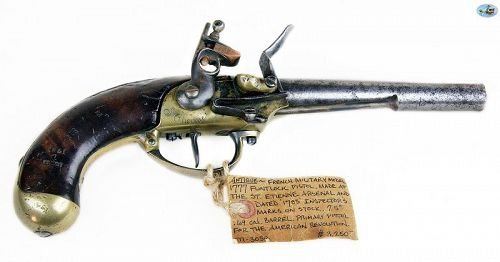 French Revolution Military Model 1777 Flintlock Pistol, St. Etienne