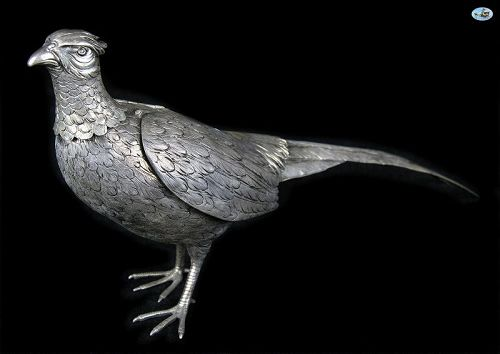 Antique 19th C. German Wyler Nuremberg Bavaria Bird Sterling Silver
