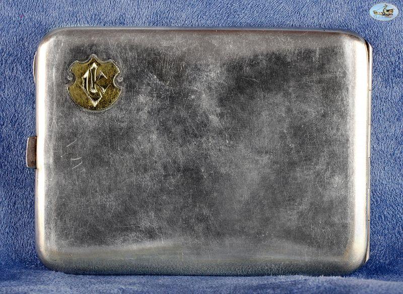 1900 Antique German 'Giovanni Guerzoni' Silver & Enamel Cigarette Case