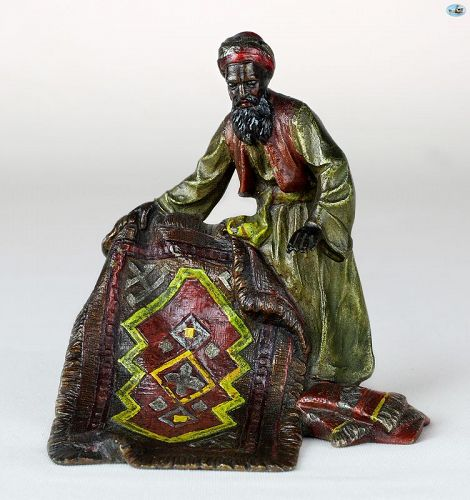 Franz Bergman Style 'Carpet Seller' Cold Painted Vienna Bronze Statue