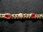 Genuine Burma Ruby & Diamond Bracelet 18K solid gold