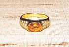 Genuine Ceylon Yellow Sapphire-Diamond Ring 18K. Gold