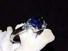 Genuine & Very Fine Ceylon Blue Sapphire-Diamond Ring