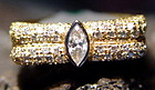 Solid 18K. 2-Tone Gold Ring with Diamonds