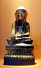 Shan Wooden Buddha w. Niche for Relics, 19th Cent Burma