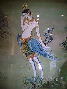 Original Thai Painting with Kinaree