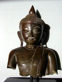 AVA Bronze Buddha Mounted, Burma, 17th Century