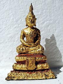 Small  Gilt Thai Bronze Rattanakosin Buddha