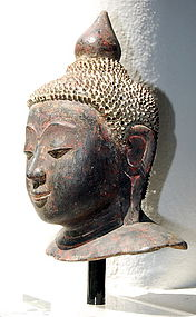 Shan State Dry Lacquer Buddha, 19th Century, Burma