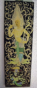Thai Classical Painting depicting  Guardian Angel