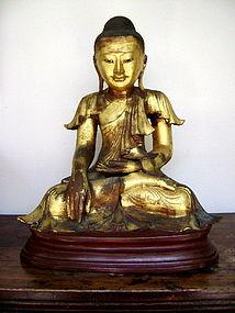 Mandalay Bronze Seated Buddha, 19th Century