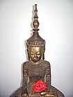 18th Century Crowned King Buddha from Laos