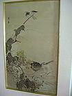 MEIJI Japanese Polychrome Autumn Painting: IMAO KEINEN