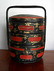 Chinese black red and gold Wedding Basket