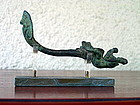 Rare ANGKOR KHMER BRONZE GARUDA WITH FINIAL, 12th Century