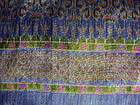 Very Rare 100% SILK IKAT with Brocade Gold thread
