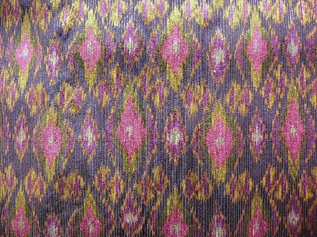 Rare 100% SILK IKAT hand woven with Gold Brocade thread