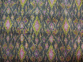 Rare 100% SILK IKAT Hand Woven Fabric with Gold thread