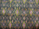 100% SILK IKAT YARDAGE WITH BROCADE