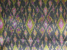 Rare 100% SILK IKAT Fabric with Gold-Brocade thread