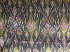 Rare 100% SILK IKAT Fabric with Gold-Brocade thread