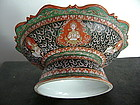 Large Benjarong Siamese Porcelain Stem Plate