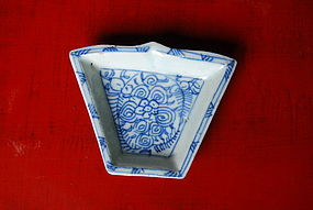 19th Century Blue & White Porcelain Sweet Meat Dish
