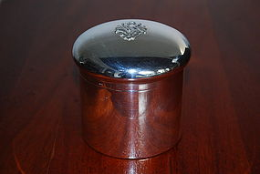 Continental Silver Cosmetic Box with Hallmark