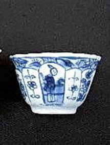 "KANGXI Blue & White Porcelain ""Long Elizas"" Tea Bowl"