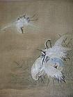 Exquisite KANO School Painting on Silk, 17th Century