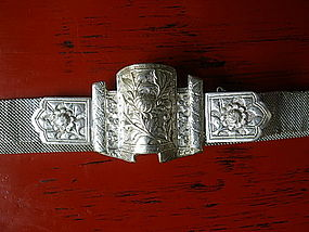 Rare & Magnificent SINO-SIAMESE Ornate Silver Belt