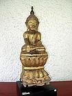 SHAN STATES Gilt Wooden Buddha, 19th Century, Burma