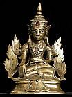 Crowned Mandalay Buddha in Royal Attire,19th Century