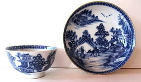 QIANLUNG Porcelain Tea Bowl and Saucer, 19th Century