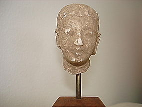 Refined Gandhara Stucco Head mounted, 3/4Cent. AD.