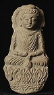 KUSHAN  Terracotta Votive Buddha, 2-4th Century AD.