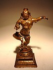 Bronze Dancing KRISHNA, Southern India, 16/17th Century