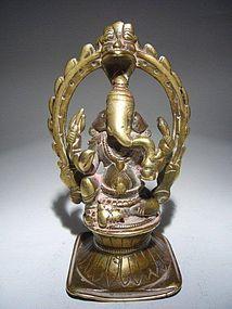 Bronze GANESHA-GANESH Sculpture, India, 17th Century