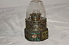 A Fine QING Opium Lamp with original glass globe
