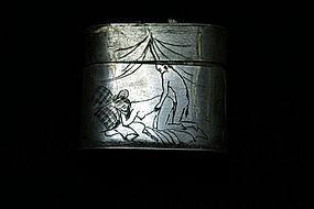Rare double construction QING erotic Opium Box