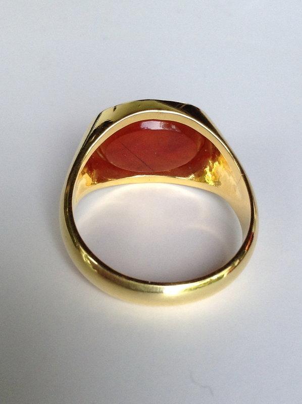 Roman INTAGLIO Ring with Lion, 1-2 Century AD