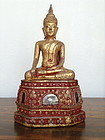 Thai LANNA BUDDHA in Lotus Position, 19th Century