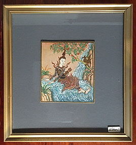Framed THAI MINIATURE Painting of Angel